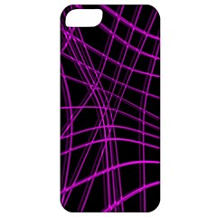 Purple and black warped lines Apple iPhone 5 Classic Hardshell Case