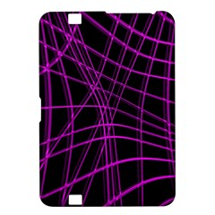 Purple and black warped lines Kindle Fire HD 8.9