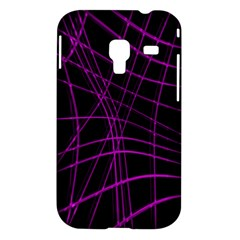 Purple and black warped lines Samsung Galaxy Ace Plus S7500 Hardshell Case