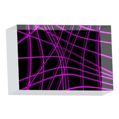 Purple and black warped lines 4 x 6  Acrylic Photo Blocks
