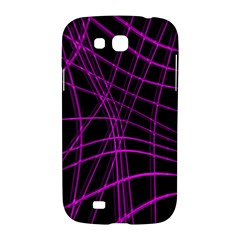 Purple and black warped lines Samsung Galaxy Grand GT-I9128 Hardshell Case