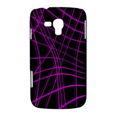 Purple and black warped lines Samsung Galaxy Duos I8262 Hardshell Case