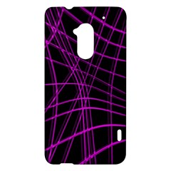 Purple and black warped lines HTC One Max (T6) Hardshell Case