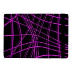 Purple and black warped lines Samsung Galaxy Tab Pro 10.1  Flip Case