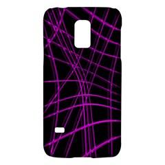 Purple and black warped lines Galaxy S5 Mini