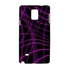 Purple and black warped lines Samsung Galaxy Note 4 Hardshell Case
