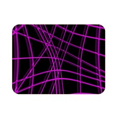 Purple and black warped lines Double Sided Flano Blanket (Mini)