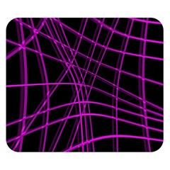 Purple and black warped lines Double Sided Flano Blanket (Small)