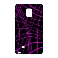 Purple and black warped lines Galaxy Note Edge