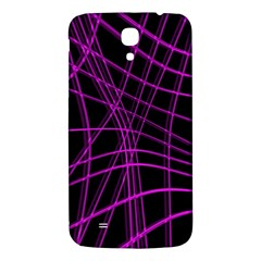 Purple and black warped lines Samsung Galaxy Mega I9200 Hardshell Back Case