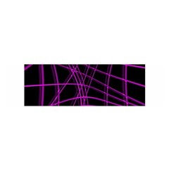 Purple and black warped lines Satin Scarf (Oblong)
