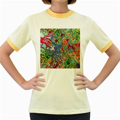 Dubai Abstract Art Women s Fitted Ringer T-Shirts