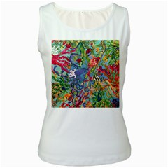 Dubai Abstract Art Women s White Tank Top