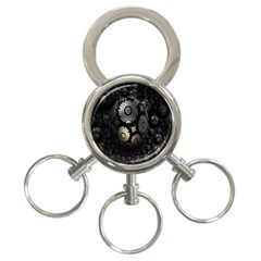 Fractal Sphere Steel 3d Structures 3-Ring Key Chains