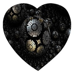 Fractal Sphere Steel 3d Structures Jigsaw Puzzle (Heart)