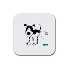 My cute dog Rubber Square Coaster (4 pack)