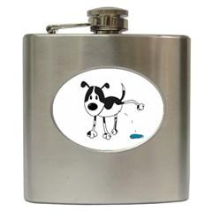 My cute dog Hip Flask (6 oz)