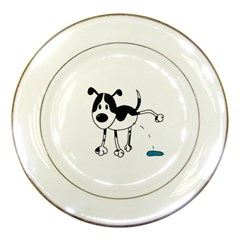 My cute dog Porcelain Plates
