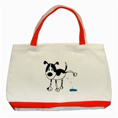 My cute dog Classic Tote Bag (Red)