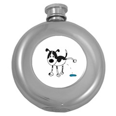 My cute dog Round Hip Flask (5 oz)