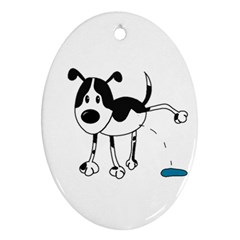 My cute dog Oval Ornament (Two Sides)