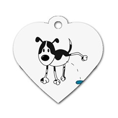 My cute dog Dog Tag Heart (Two Sides)