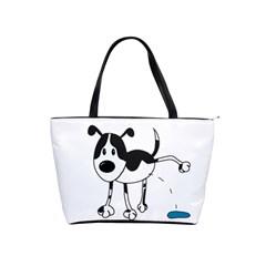 My cute dog Shoulder Handbags