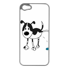 My cute dog Apple iPhone 5 Case (Silver)