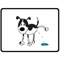 My cute dog Double Sided Fleece Blanket (Large)
