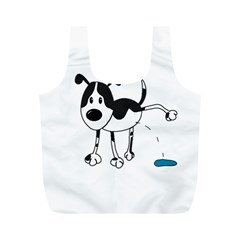 My cute dog Full Print Recycle Bags (M)