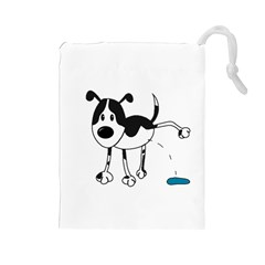 My cute dog Drawstring Pouches (Large)
