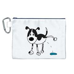My cute dog Canvas Cosmetic Bag (L)