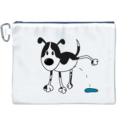 My cute dog Canvas Cosmetic Bag (XXXL)