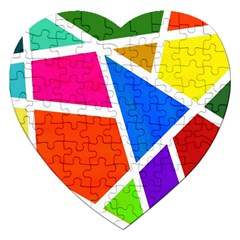 Geometric Blocks Jigsaw Puzzle (Heart)