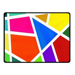 Geometric Blocks Double Sided Fleece Blanket (Small)