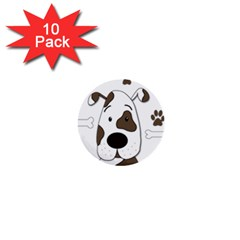 Cute dog 1  Mini Buttons (10 pack)