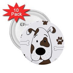 Cute dog 2.25  Buttons (10 pack)