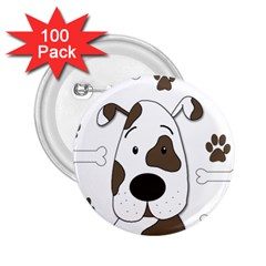 Cute dog 2.25  Buttons (100 pack)