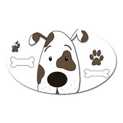 Cute dog Oval Magnet