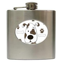 Cute dog Hip Flask (6 oz)