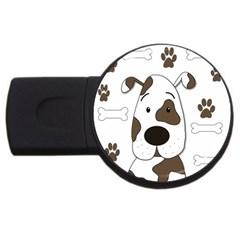 Cute dog USB Flash Drive Round (1 GB)