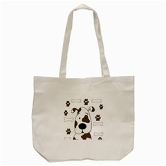 Cute dog Tote Bag (Cream)