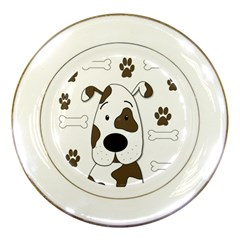 Cute dog Porcelain Plates