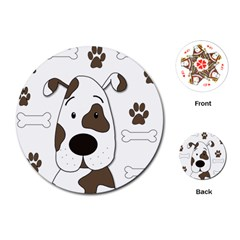 Cute dog Playing Cards (Round)