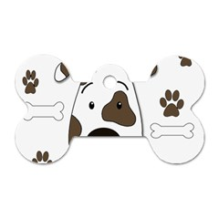 Cute dog Dog Tag Bone (One Side)