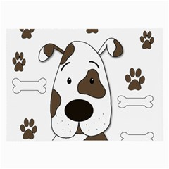 Cute dog Large Glasses Cloth