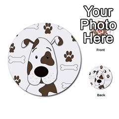 Cute dog Multi-purpose Cards (Round)