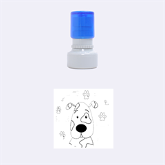 Cute dog Rubber Round Stamps (Small)