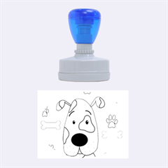 Cute dog Rubber Oval Stamps