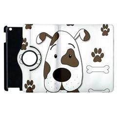 Cute dog Apple iPad 3/4 Flip 360 Case